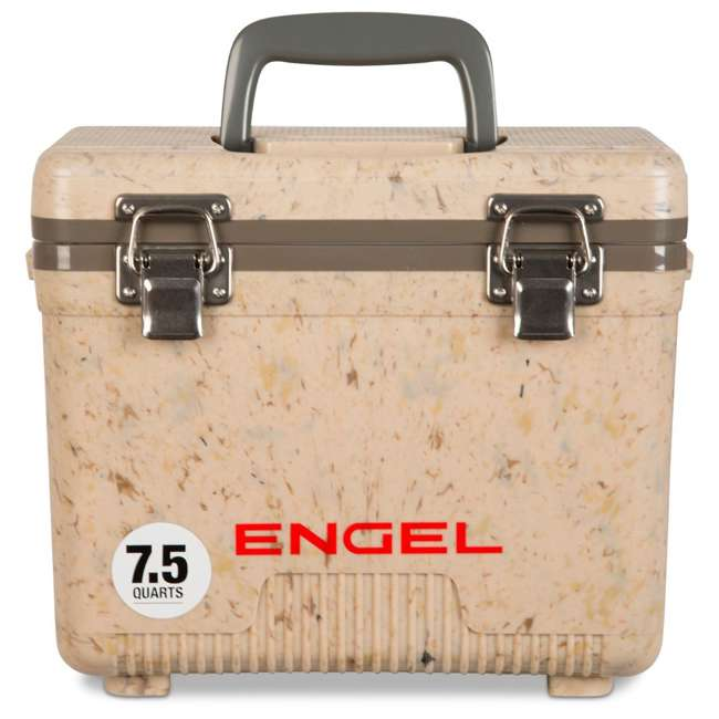 UC7C1 Engel 7.5-Quart EVA Seal Ice and DryBox Cooler with Carry Handles, Grassland