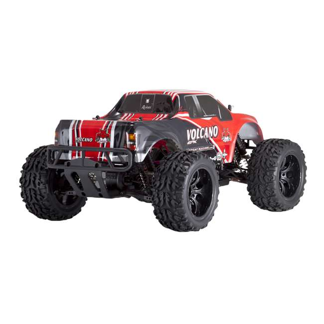 4 x VOLCANOEP-94111-RedBlack-24 Redcat Racing Volcano EPX 1:10 Scale RC Monster Truck, Red (4 Pack) 1