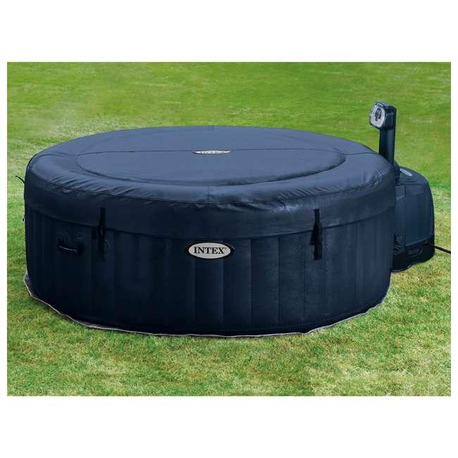 28405E + 28004E + QLC-14890 Intex Pure Spa 4-Person Home Inflatable Hot Tub, Accessory Kit, & Chemical Kit 5