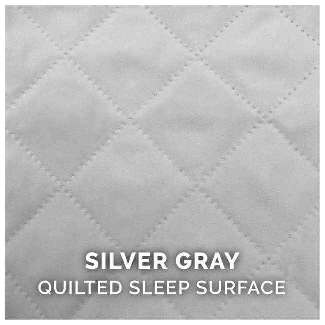 85501017BX Furhaven Cooling Gel Memory Foam Quilted Couch Pet Dog Bed, Silver Gray, Jumbo 7
