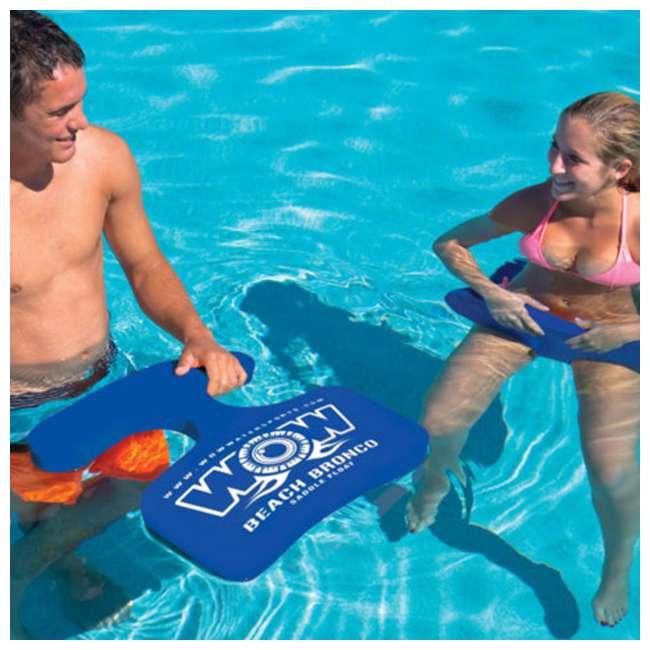14-2130 WOW Watersports 1 Person Soft Foam Beach Lake Bronco Swimming Pool Saddle, Blue 1