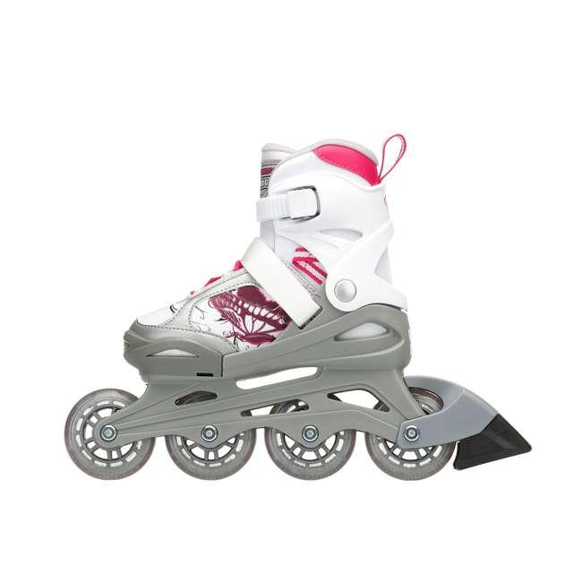 0T817200T1C-S Rollerblade Bladerunner Phoenix Girls Adjustable Fitness Inline Skate Size 11J-1 1