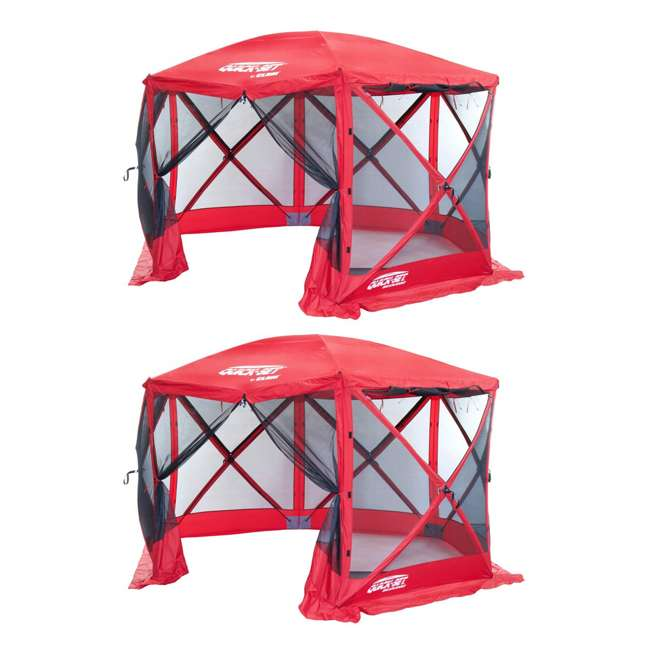 CLAM-ESS-14202 Clam Quick Set Escape Sport Screen Canopy, Red/Red (2 Pack)