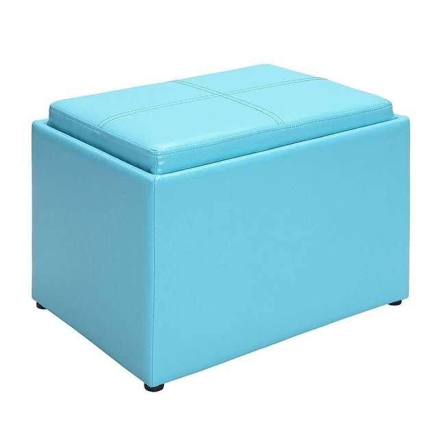 R8-159 Convenience Concepts R8-159 Designs4Comfort Accent Storage Space Ottoman, Teal