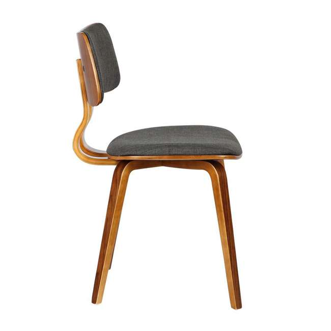 LCJASIWACH Armen Living Jaguar Mid-Century Dining Chair in Walnut Wood and Charcoal Fabric 1