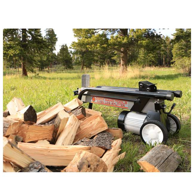 DHT-100481 5-Ton Force Electric Horizontal Wood Log Splitter 1
