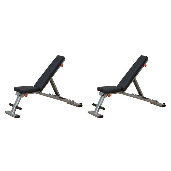 GFID225 Body Solid Multi-Use Adjustable Workout Bench (2 Pack)