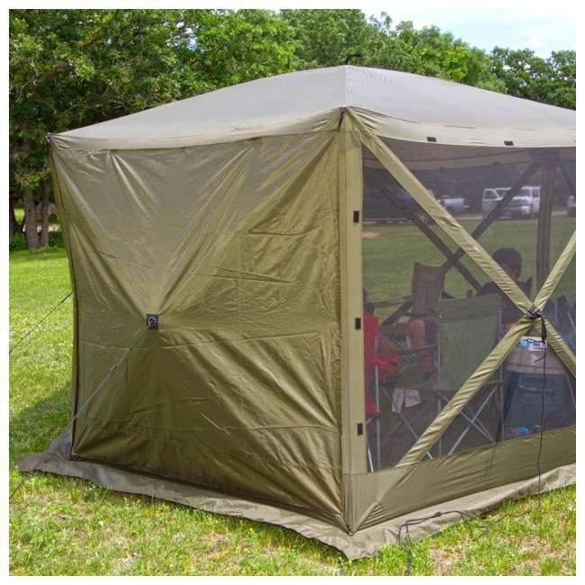 CLAM-ES-9281 + CLAM-WP-2PK-9896 Clam Quick Set Canopy Shelter + Wind & Sun Panels (2 pack) 9