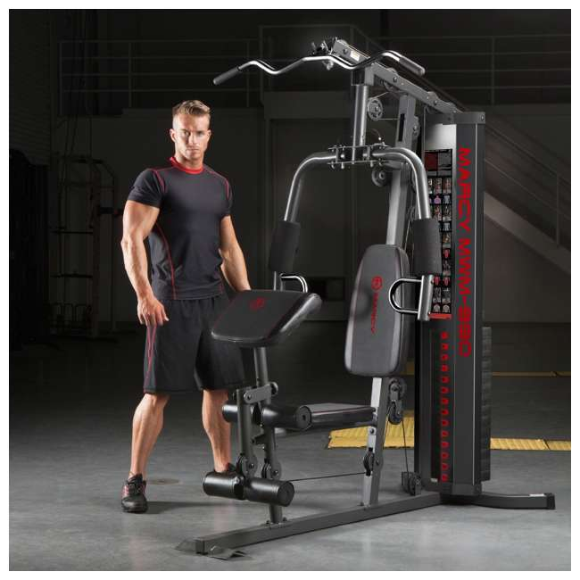 MWM-990-U-A Marcy Dual-Functioning Upper And Lower Body 150-Pound Stack Home Gym (Open Box) 5