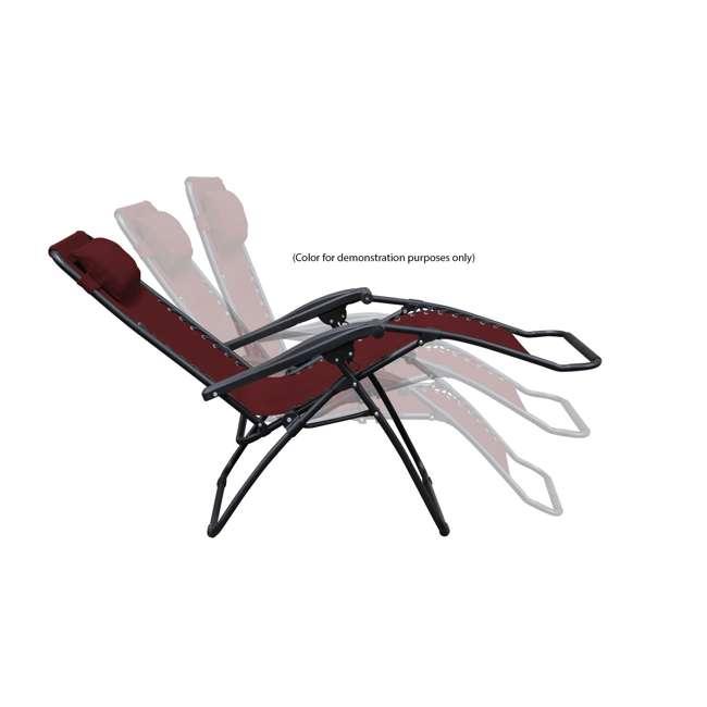 CVAN80009000152-2PK-U-B Caravan Canopy Infinity Zero Gravity Steel Frame Patio Deck Chair (Pair) (Used) 1