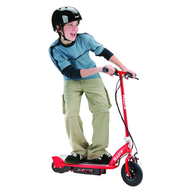 3 x 13111259 Razor E175 Kids Ride On 24V Motorized Battery Powered Scooter Toy, Red (3 Pack) 2