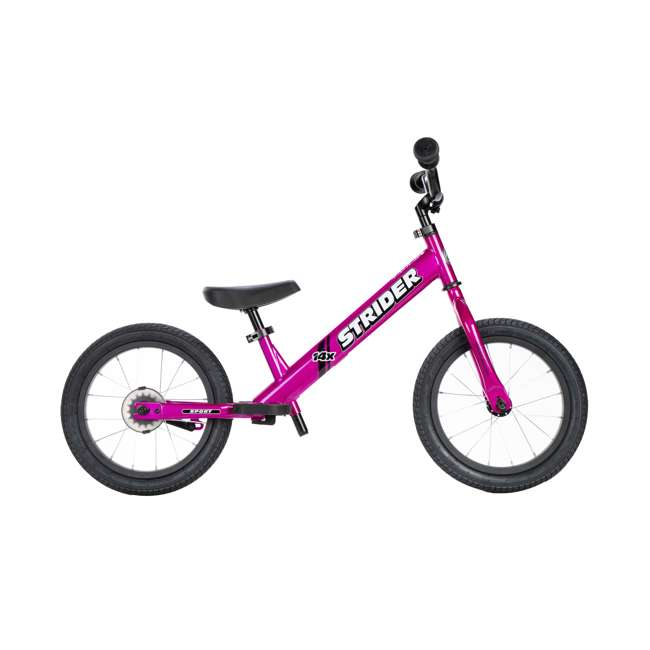SK-SP1-US-PK Strider 14x Steel Frame Beginner Kids Learning Bicycle Balance Bike Kit, Pink