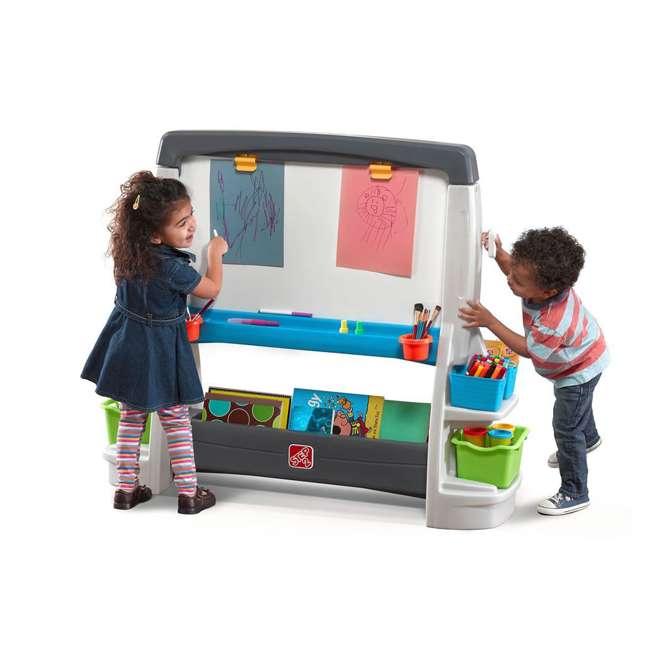 868500-U-A Step2 Jumbo Oversized Whiteboard and Chalkboard Art Easel for Kids (Open Box)
