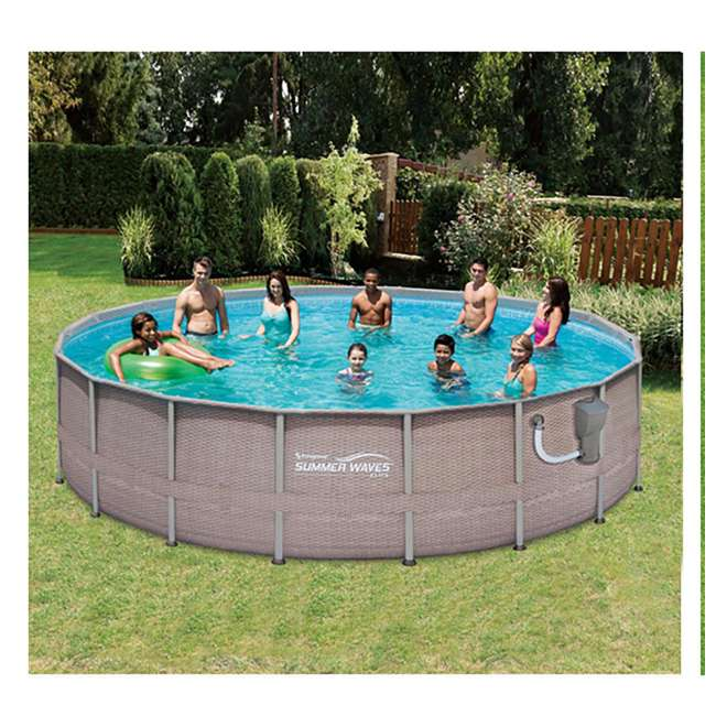 Summer waves elite 18 39 x 48 above ground frame pool set for Summer waves above ground pool review