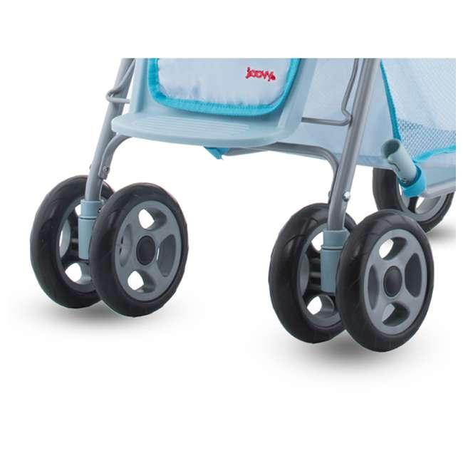 JVY-043 + JVY-003 Joovy Toy Doll Caboose Pretend Play Stroller & Car Seat, Blue Dot 3
