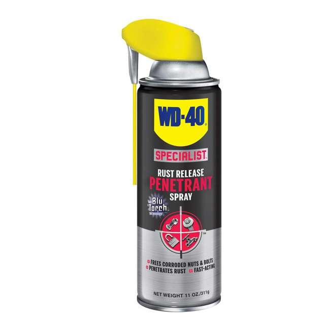 WD-490057 + WD-300004 WD-40 490057 Multi Use Lubricant with Smart Straw, w/ WD-40 Metal Rust Spray, 2