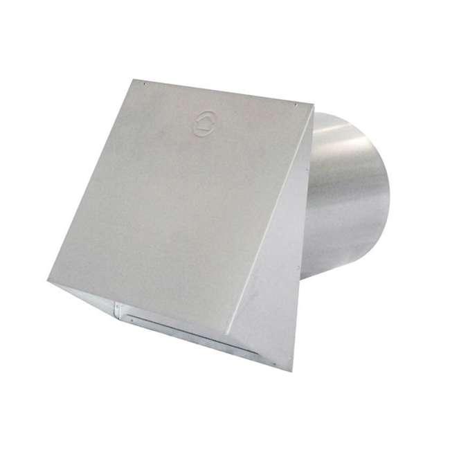 AK-PWC10R-PA-U-A Air King 10 Inch Diameter Galvanized Steel Professional Hood Wall Cap (Open Box)