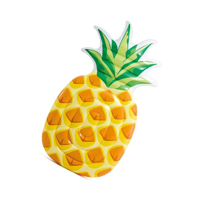 58761EP-U-B Intex 85 x 49 Inch Giant Inflatable One Person Pineapple Pool Float Mat (Used) 3