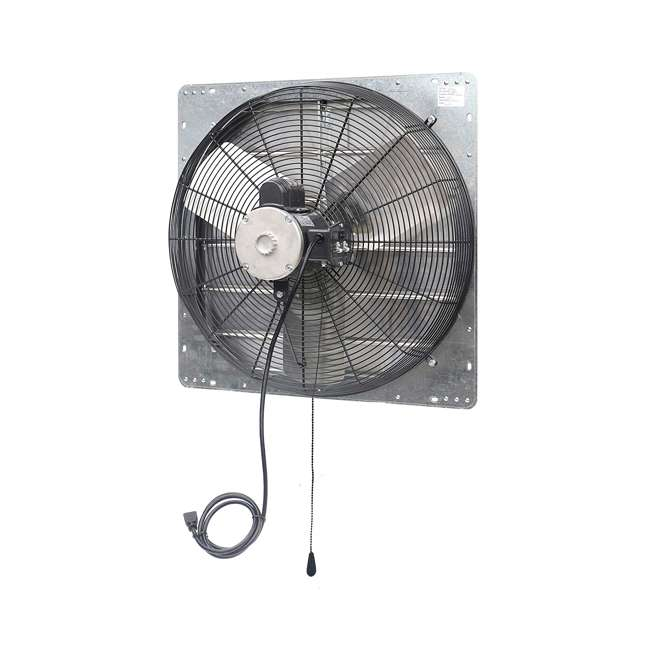 ILG8SF24V-T iLiving ILG8SF24V-T 2 Speed 24 Inch Exhaust Attic Garage Grow Fan w/ Thermostat 3