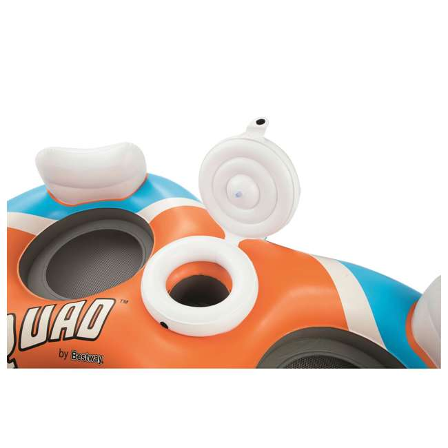 43115E-BW-U-A Bestway 101-Inch Rapid Rider 4-Person Floating Raft w/ Coolers (Open Box)(2 Pack) 3