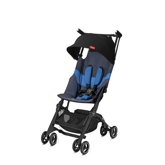 619000531 GB Gold Pockit Plus Lightweight Folding All Terrain Infant Stroller, Night Blue