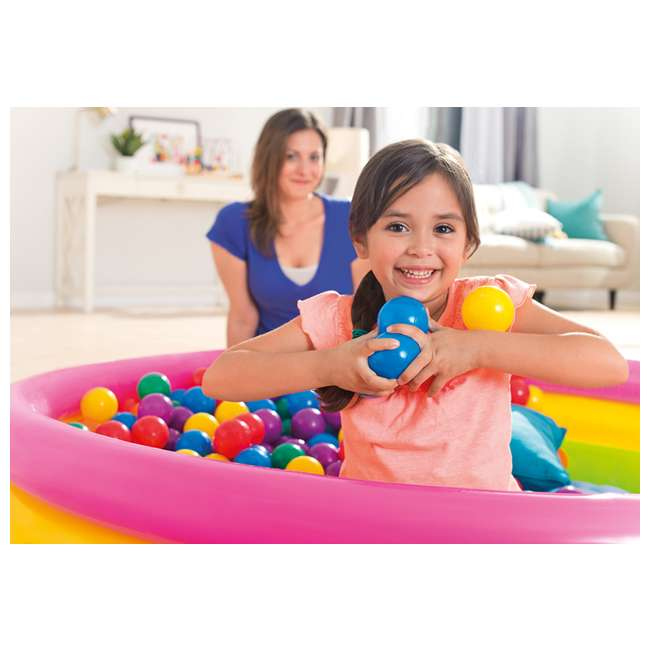 49602EP 100-Pack Intex Small Plastic Multi-Colored Fun Ballz 1