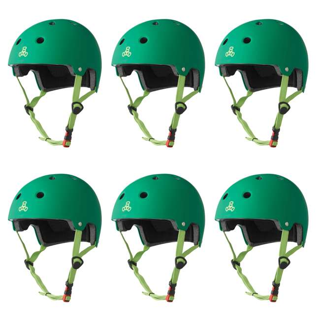 6 x T8-3028 Triple 8 Dual-Certified Skate and Bike Helmet with EPS Liner, L/XL (6 Pack)