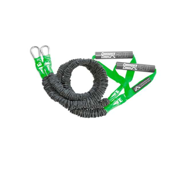 CSCRD-GN Crossover Symmetry Shoulder Resistance Home Exercise Crossover Cords, 3 Pounds