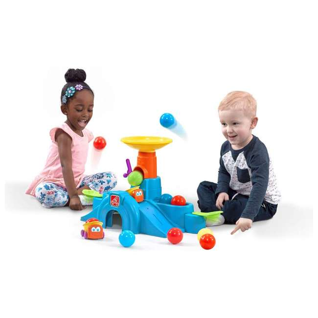497400 Step2 497400 Durable Toddler Ball Buddies Tunnel Tower with 10 Colorful Balls