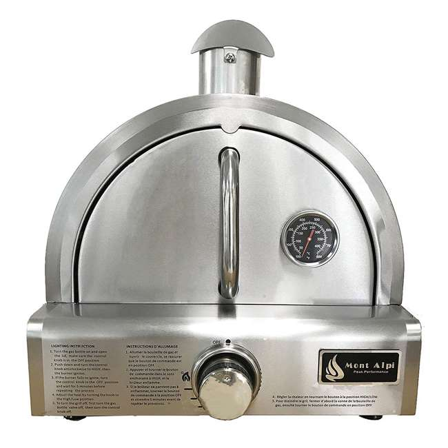 MAPZ Mont Alpi MAPZ Table Top Gas Stainless Steel Large Portable Pizza Oven Cooker