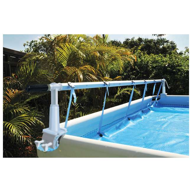 Kokido solaris ii above ground pool 24 ft cover reel for Piscine hors sol sunbay