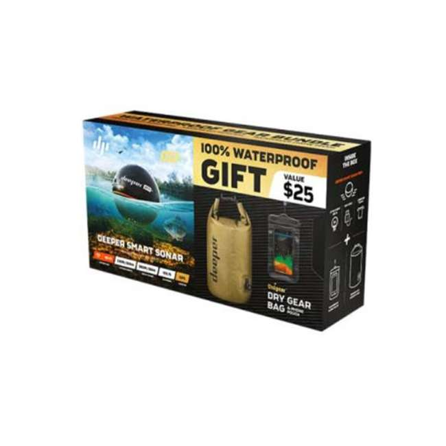 ITGAM0632 Deeper Pro+ Castable Fish Finder Sonar Bundle with Dry Bag and Phone Case 1