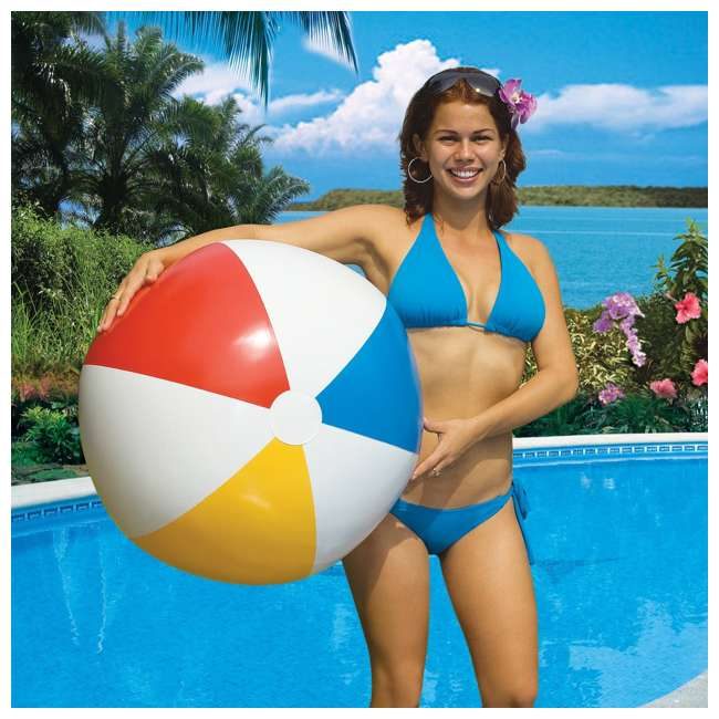 90036 Swimline Inflatable 36 Inch Classic Rainbow Beach Ball For Pool or Lake (Used) 2