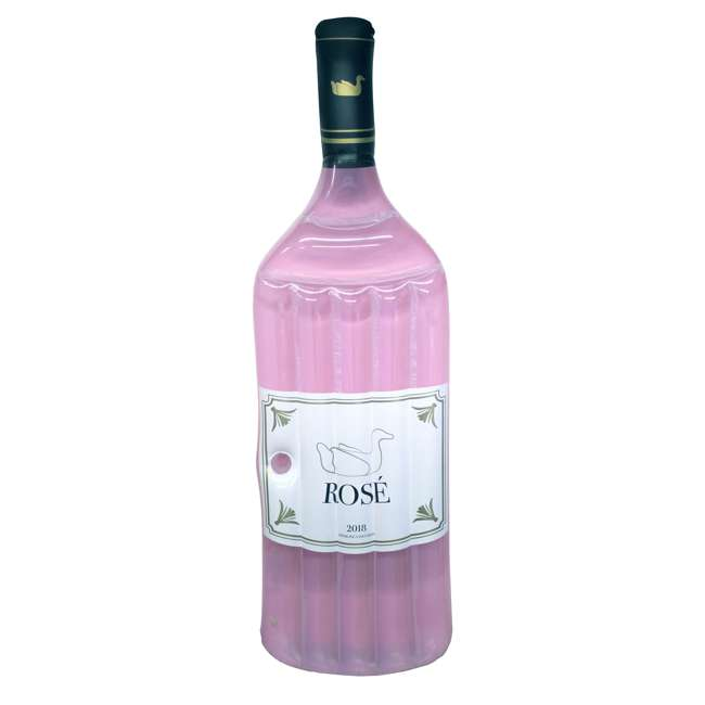 SL-90654 Swimline Inflatable Rose Wine Bottle Float