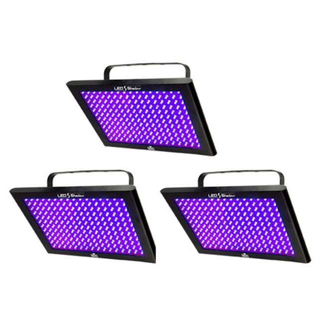 3 x TFX-UVLED Chauvet LED Shadow TFX-UVLED 3 Channel UV Blacklight Panel Lights (3 Pack)