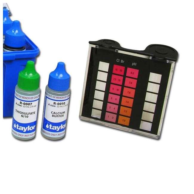 K2005 Taylor Swimming Pool Chlorine Bromine Alkalinity Hardness pH DP Test Kit (2) 4