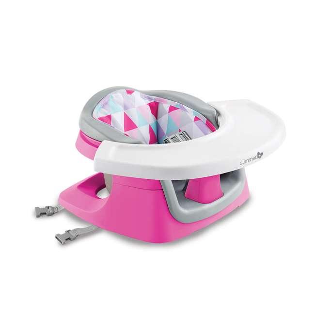 13595 Summer Infant Deluxe 4 In 1 Baby Floor Booster SuperSeat Activity Chair, Pink 1