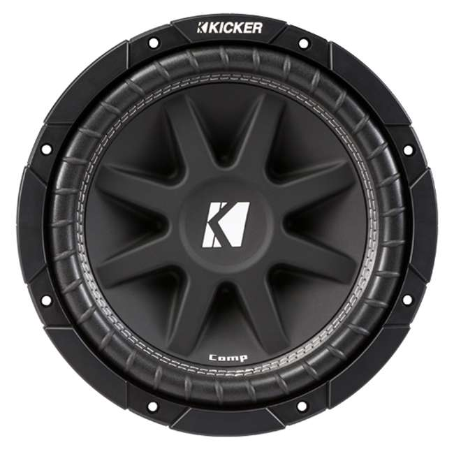 43C104 + QBASS10 + R1100M + 4GAMPKIT-SFLEX Kicker 10C104 10-Inch 600W Subwoofers with Box with 1100W Amplifier with Wire Kit (Pair) 1