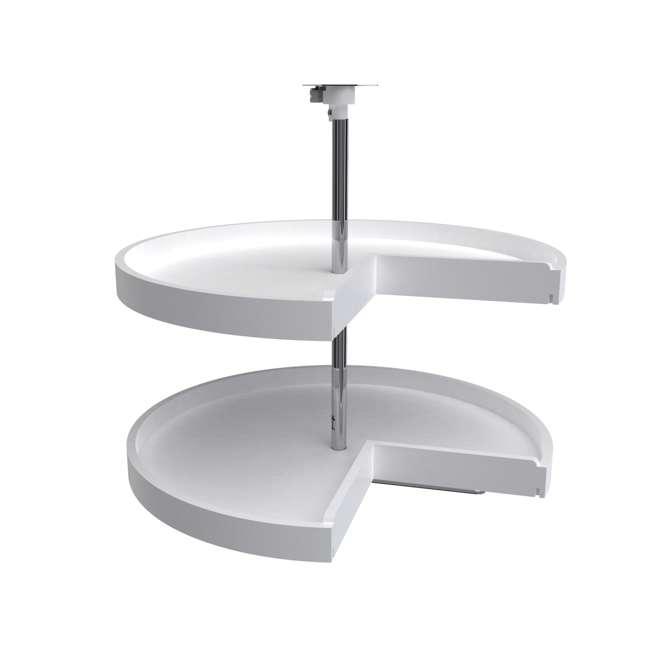 6942-28-11-52 Rev-A-Shelf 6942-28-11-52 28 Inch White Polymer Pie Cut 2 Shelf Lazy Susans