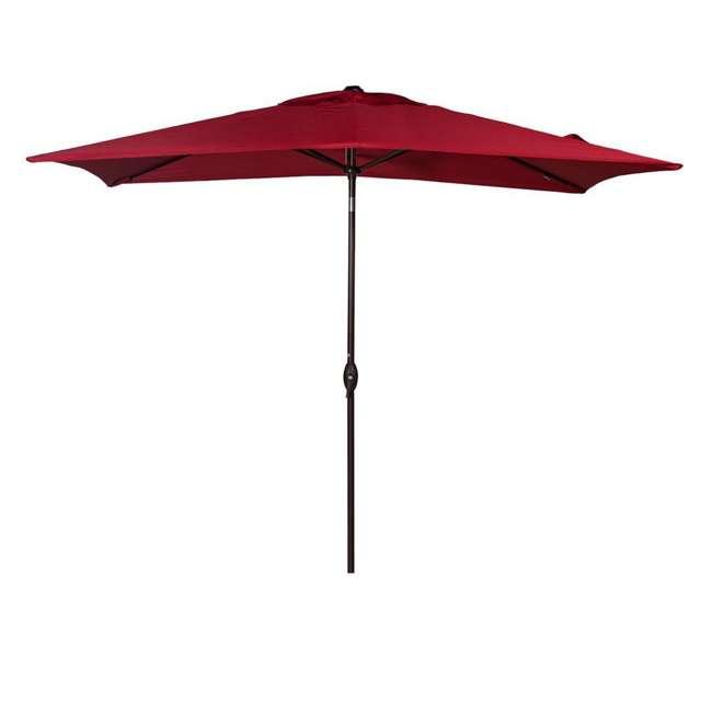 AP23386CTR Abba Patio 6.6 x 9.8 Feet Market Table Umbrella, Red 1