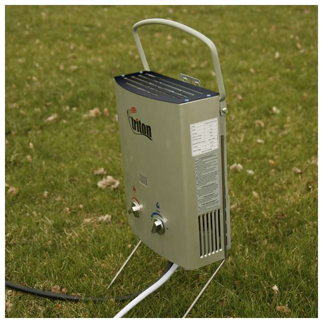 Triton Water Heater Instant Shower : Camp chef triton liter portable water heater with shower