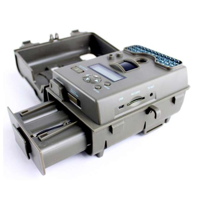 D55-IRXT + EZF30T D55IRXT - MOULTRIE Game Spy Digital Infrared Trail Hunting Camera + EZF30T 30Gal Tripod Feeder 7
