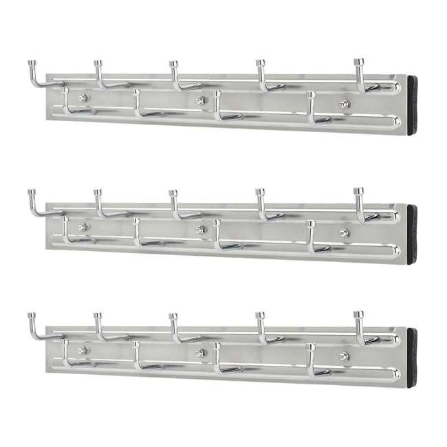 3 x BRC-14CR Rev-a-Shelf BRC-14CR 14 Inch Wall Mounted Pullout Belt Rack, Chrome (3 Pack)