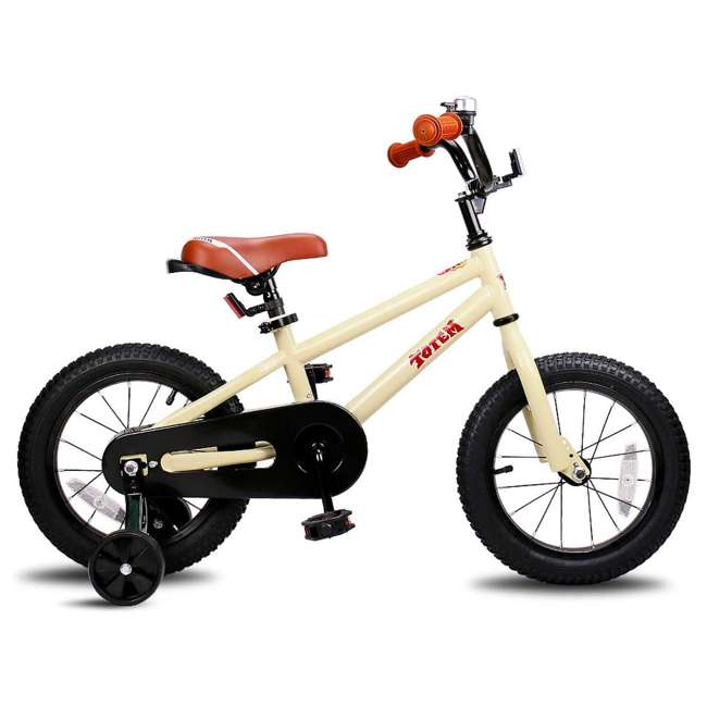 BIKE008-16 JOYSTAR Totem Series 16-Inch Kids Bike with Training Wheels & Kickstand, Ivory 1