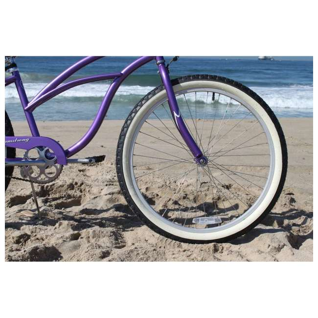 "15005 Firmstrong Urban Lady Women's 24"" Beach Cruiser Bike, Purple 5"