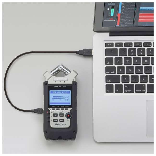 ZH4NPRO + TH02-B + SD4-16GB-SAN Zoom H4n Pro Digital Multitrack Recorder + TASCAM Headphones + Memory Card 4