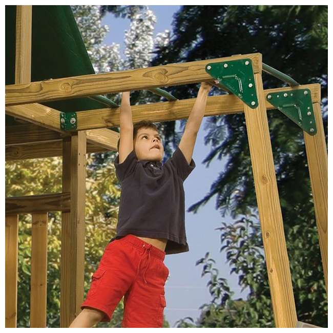 PS 7766 Playstar PS 7766 Childrens Steel Swedged End Climbing Monkey Bars Add On Kit 1