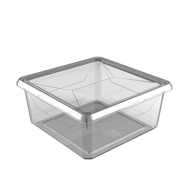 FBA32785 Ezy Storage Karton Medium 9.1 Qt/8.6 L Plastic Storage Container Bin Box w/ Lid