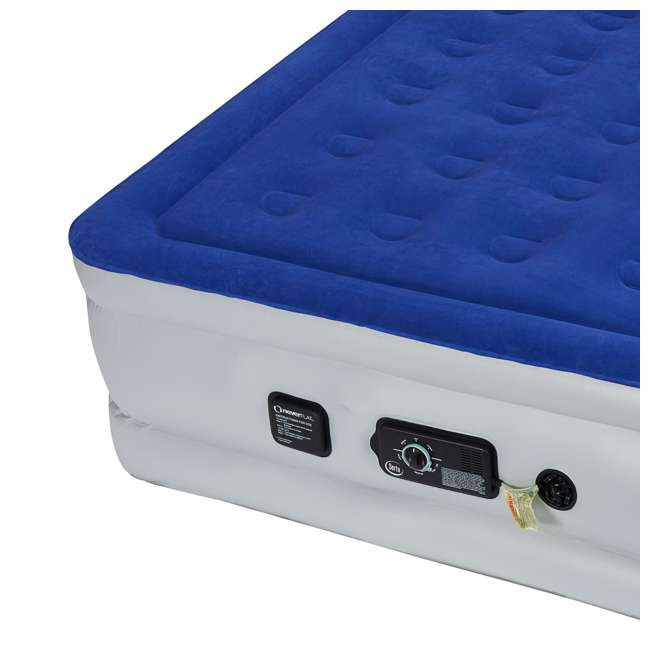 ST840017B-U-A Serta Raised Queen Size Bed Air Mattress with Never Flat Pump, Blue (Open Box) 3