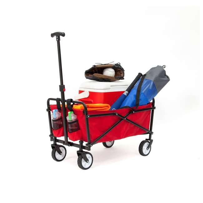 SUW-200-RED-U-A Seina Compact Folding Outdoor Utility Cart (Open Box) (2 Pack)